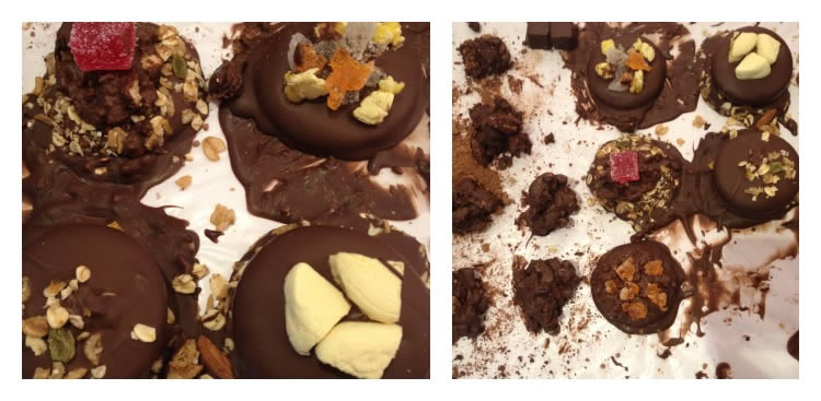 Chocolate Biscuit & Chocolate Rocks