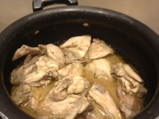 Chicken cooked in about 20 minutes