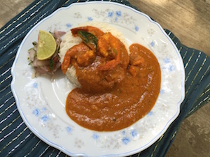 Mamaiji's Red Prawn Curry
