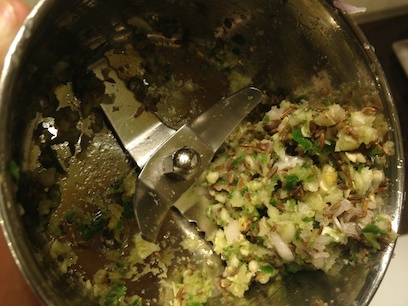 Onion, cumin and chilli mixture