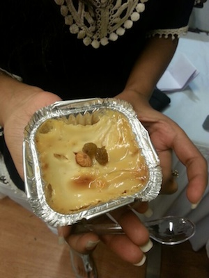 Sample portion of Lagan nu Custard