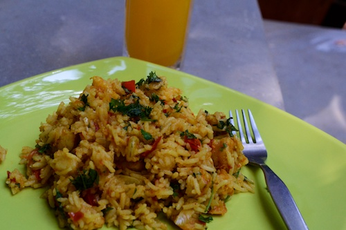 10. Final Pulao on Plate