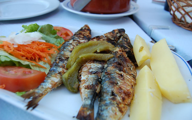 Charcoal Grilled Sardines - on the menu in this food tour!
