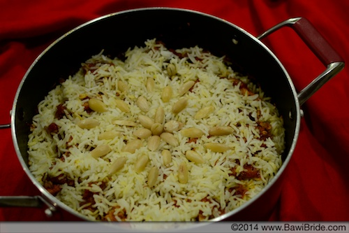 Salmon Pulao_Red Background