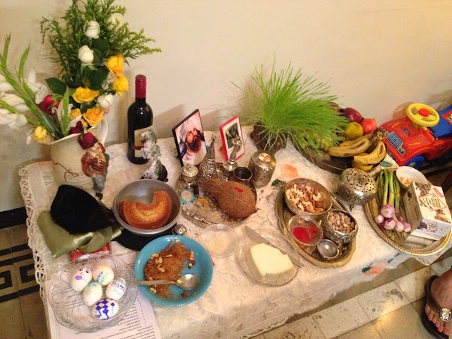 Navroze Table at Bawi Bride's house