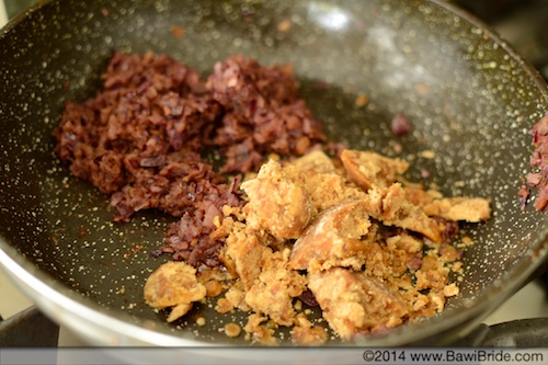 Add Jaggery and spices for Khatu Mithu Gosht base