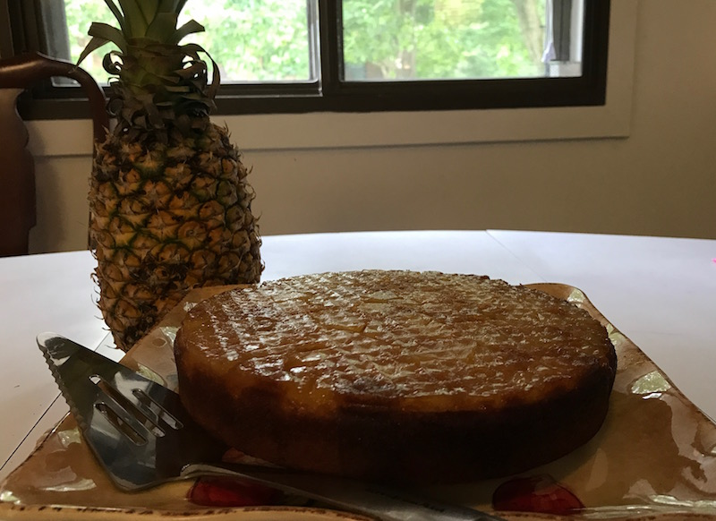 Upside Down Pineapple Cake Parsi Style