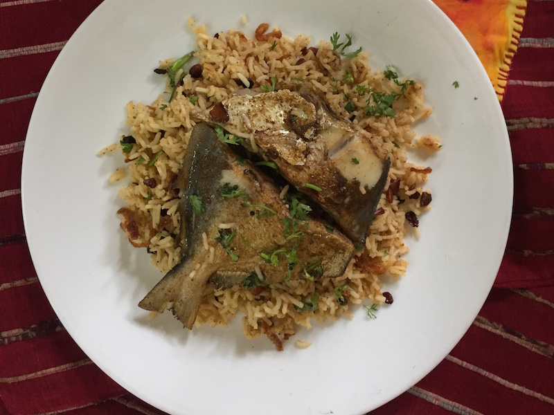 Paplet or Pomfret Pulao Parsi Style