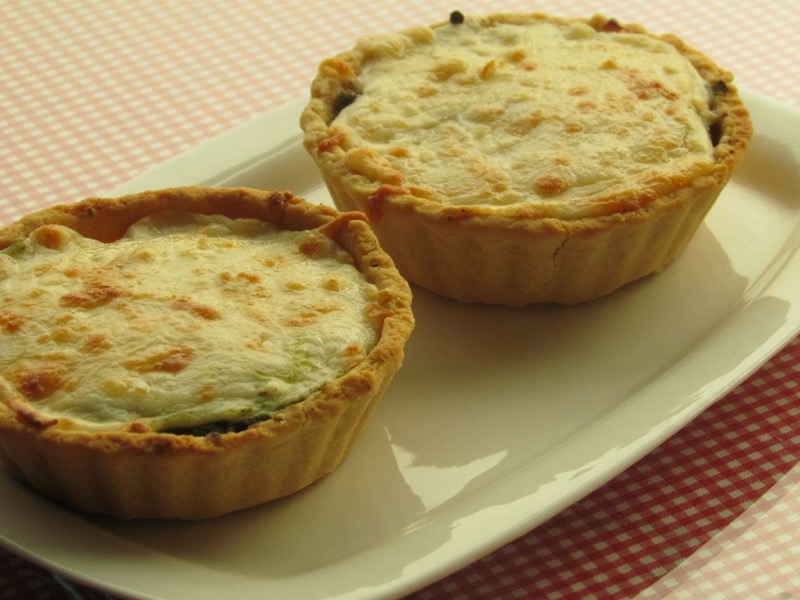 Mini Shortcrust Tarts with Eggplants & Green Chutney